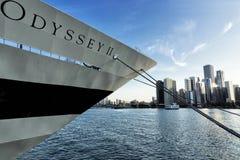 Barco grande en el lago Michigan imagen de archivo libre de regalías