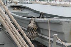 Barco gris Imágenes de archivo libres de regalías