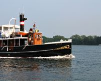 Barco hermoso viejo del vapor Imagen de archivo