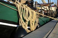 Barco holandês de fundo chato de Taditional, Fotos de Stock
