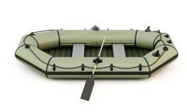 Barco inflável sob o fundo branco Fotos de Stock