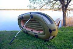 Barco inflable de sequía Fotografía de archivo