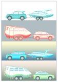 Barco inventado del remolque del coche Fotografía de archivo libre de regalías