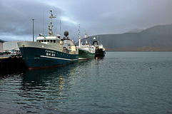 Barco islandés Imagen de archivo libre de regalías