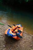 Barco listo para la aventura fotos de archivo