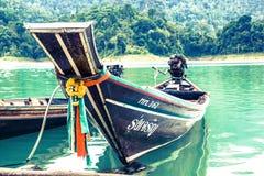 Barco Long-tailed Foto de Stock