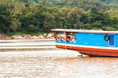 Barco longo. imagem de stock