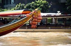 Barco longo tradicional Banguecoque Foto de Stock