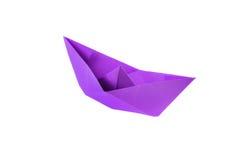Barco magenta de la papiroflexia Imagen de archivo libre de regalías
