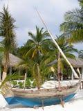 Barco maldivo tradicional Fotos de archivo libres de regalías
