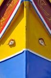 Barco maltés tradicional, llamado Luzzu Foto de archivo libre de regalías