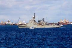Barco militar viejo imagenes de archivo