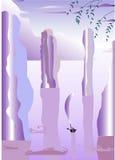 Barco na água Mystical Imagem de Stock