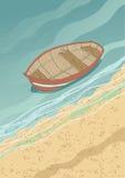 Barco na costa ilustração stock