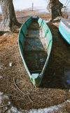 Barco na costa Foto de Stock