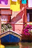 Barco no jardim do canal Foto de Stock Royalty Free