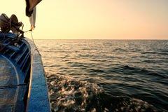 Barco no karkennah imagem de stock