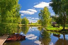 Barco no lago. fotos de stock royalty free