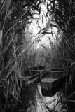 Barco no lago fotografia de stock