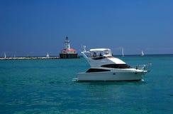 Barco no lago Michigan Imagem de Stock
