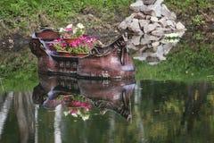 Barco no lago no verão Imagem de Stock Royalty Free