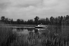 Barco no lago Rottemeren Imagem de Stock