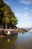 Barco no louro Ao-Nang Fotos de Stock Royalty Free