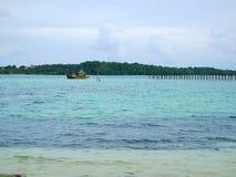 Barco no mar Foto de Stock Royalty Free