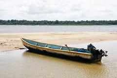 Barco no Orinoco River Foto de Stock