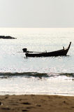 Barco no por do sol Foto de Stock Royalty Free