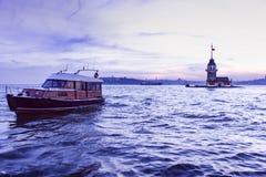 Barco no por do sol Fotografia de Stock