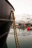 Barco no porto em Valdez Alaska Foto de Stock