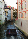 Barco no rio Vltava Foto de Stock Royalty Free