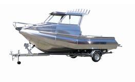 Barco novo no reboque imagem de stock