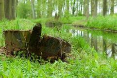 Barco oxidado trenzado Imágenes de archivo libres de regalías