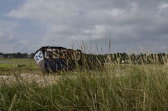 Barco oxidado velho Foto de Stock