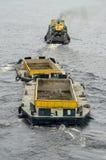 Barco para a recolha de lixo Fotografia de Stock
