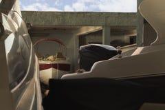 Barco parqueado en remolque Foto de archivo libre de regalías