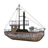 Barco-patrulha - 3D rendem Foto de Stock
