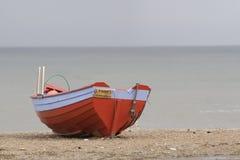 Barco pelo mar Fotografia de Stock Royalty Free