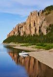 Barco perto da entrada a Lena Pillars National Park Imagens de Stock