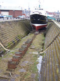 Barco piloto de Liverpool na doca seca Imagem de Stock