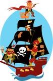 Barco pirata ilustración del vector
