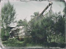Barco pirata abandonado en Seychelles Imagenes de archivo
