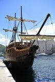 Barco pirata de Dubrovnik Imágenes de archivo libres de regalías