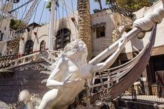 Barco pirata del hotel y del casino de la isla del tesoro Fotos de archivo