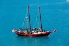 Barco pirata del partido imagen de archivo