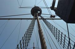 Barco pirata en la exhibición foto de archivo libre de regalías