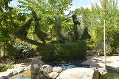 Barco pirata reconstruido en Fern Sculpture fotos de archivo libres de regalías