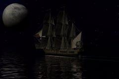 Barco pirata, representación 3d Fotografía de archivo